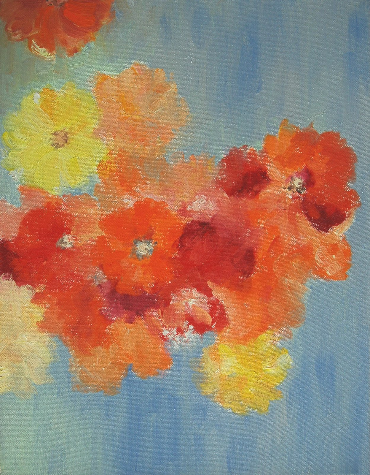 POPPIES, oil on canvas, 14 x 10 inches, copyright ©2010